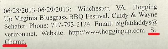 New Bluegrass Festival Virginia West