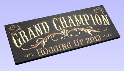 grand champion plaque