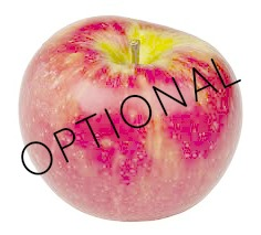 optional apples